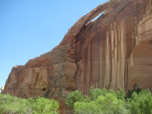 Hiking to the natural arch with an archeological surprise.
