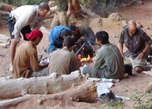 A hot meal cooked over an open fire is a wonder ending to a fay of hiking. Photo courtesy of Paul Bojan.