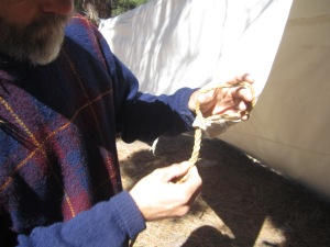 Rope Craft is a foundation skill for Shelter Craft. An eye splice creates a permanent loop in an end of a rope for a secure shelter.