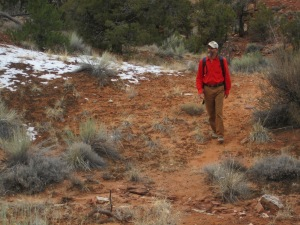 February provides milde temperatures for hiking the canyons.  Small patches of snow may be found on northern aspects.