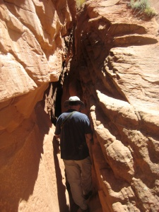 April is an ideal month for hiking in slot canyons.  The Temperatures are great and the chances of rain are minimal.