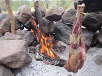 Fire Roasting Leg-of-Lamb