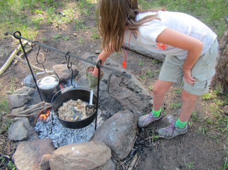 Campfire Cooking with the Youngsters
