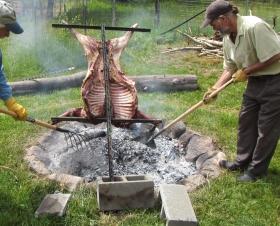 Roasting a Lamb